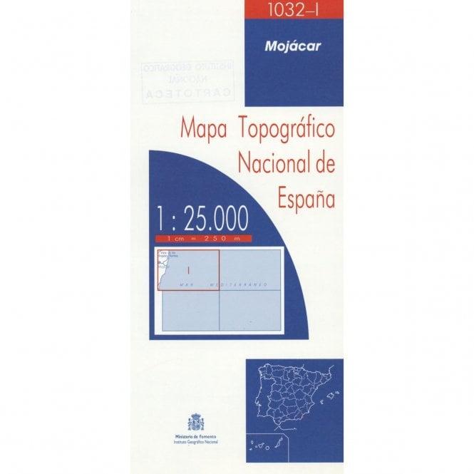 Mojacar Spain Map.1032 I Mojacar Topographic 25k Maps Of Spain From Cnig