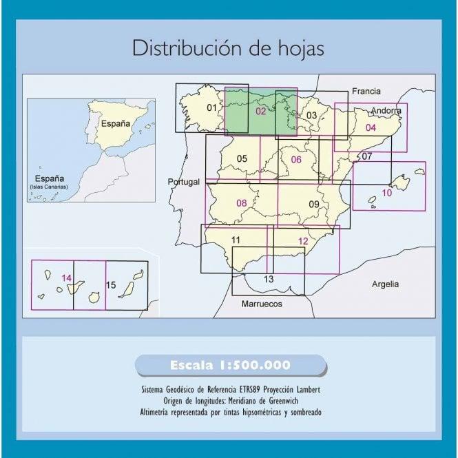Regional Map Of Spain.500k Regional Road Map Of Spain 2 North