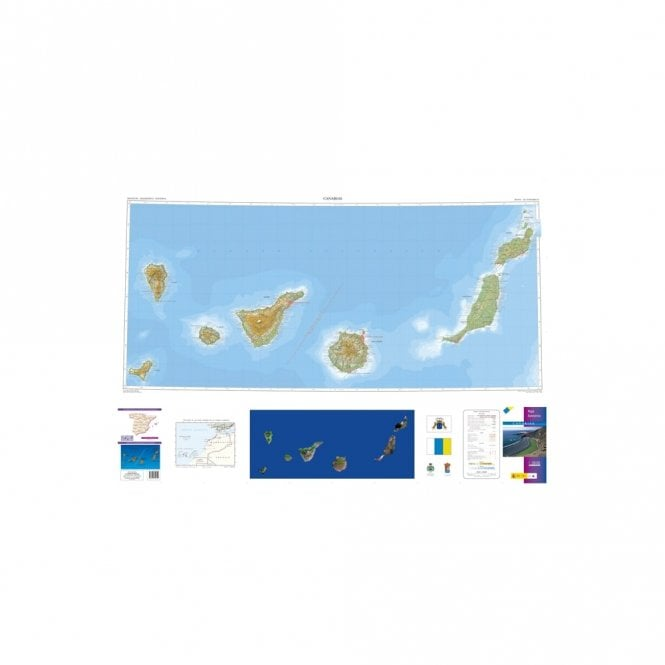 Map Of Spain And Surrounding Islands.Map Of The Autonomous Region Of Canary Islands