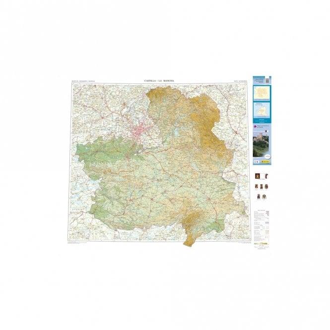 Map Of Spain La Mancha.Map Of The Autonomous Region Of Castilla La Mancha