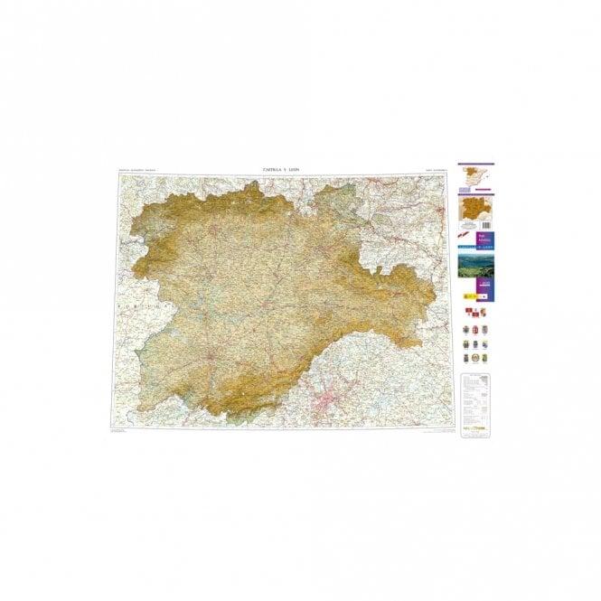 Map Of Spain Leon.Map Of The Autonomous Region Of Castilla Leon