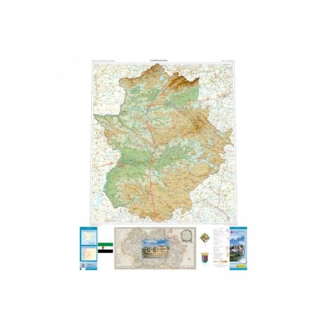 Map Of Spain Extremadura.Map Of The Autonomous Region Of Extremadura