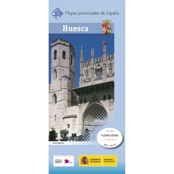 Map Of Spain Huesca.Provincial Map Of Huesca