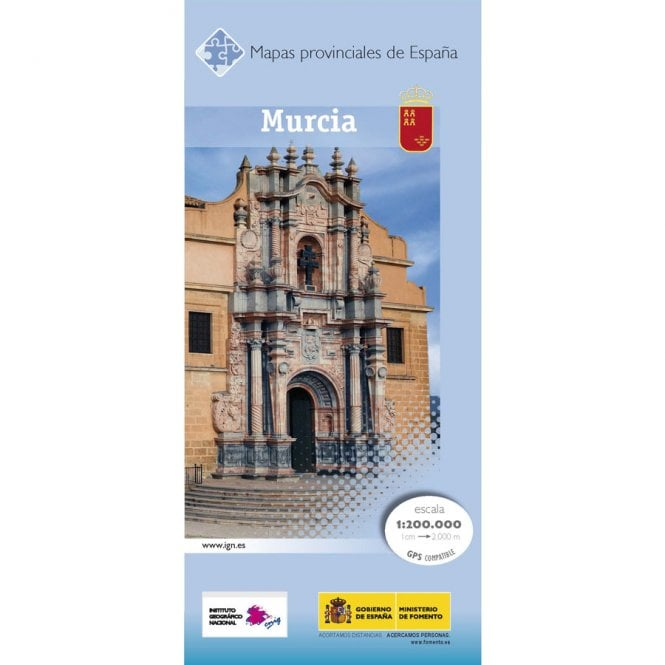 Murcia Map Of Spain.Provincial Map Of Murcia