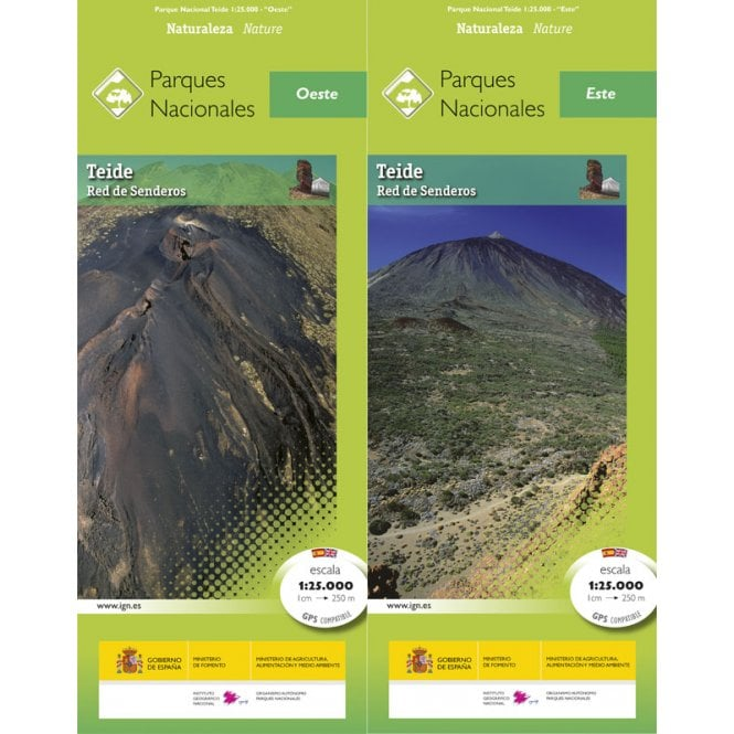 Map Of Spain Tenerife.Teide National Park Tenerife 25k Map Guide Spanish From Cnig