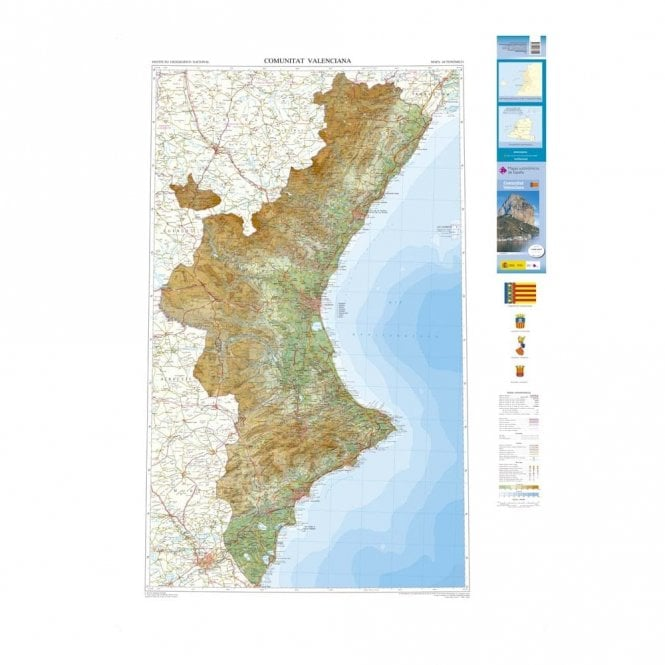 Map Of Spain Valencia Region.Map Of The Autonomous Region Of Valencia 200k Scale Maps Of Spain