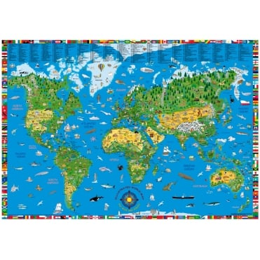 Childrens Map of the World