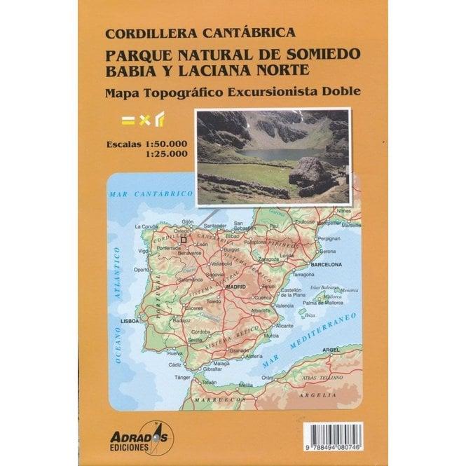 Cordillera Cantabrica Somiedo Natural Park Map By Adrados Editions