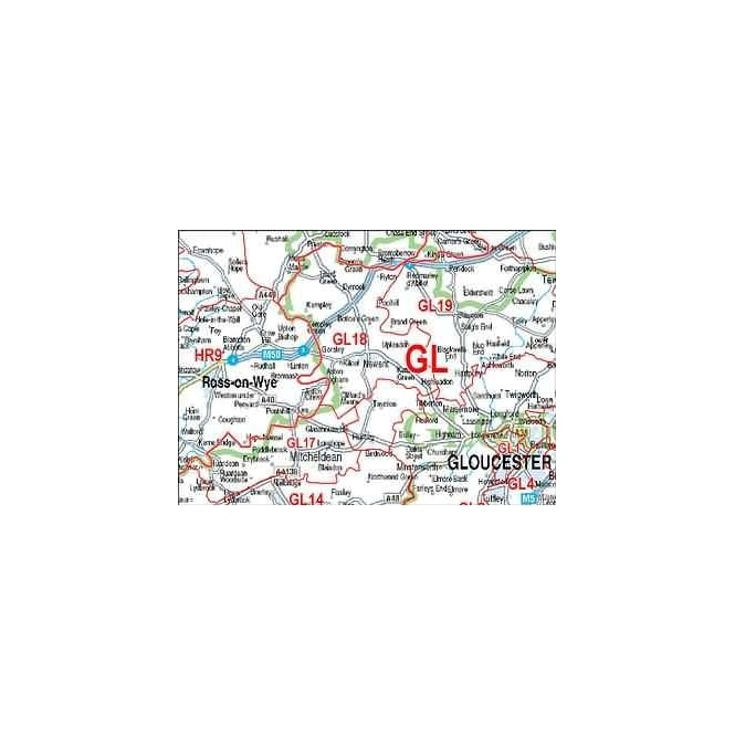 Customised UK Road and Postcode Wall Maps