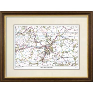 Deluxe Framed Personalised Map - choice of historical mapping and framing
