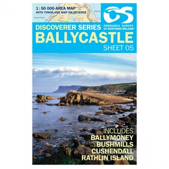 Map Of Ireland Headlands.Discoverer Map 05 Ballycastle
