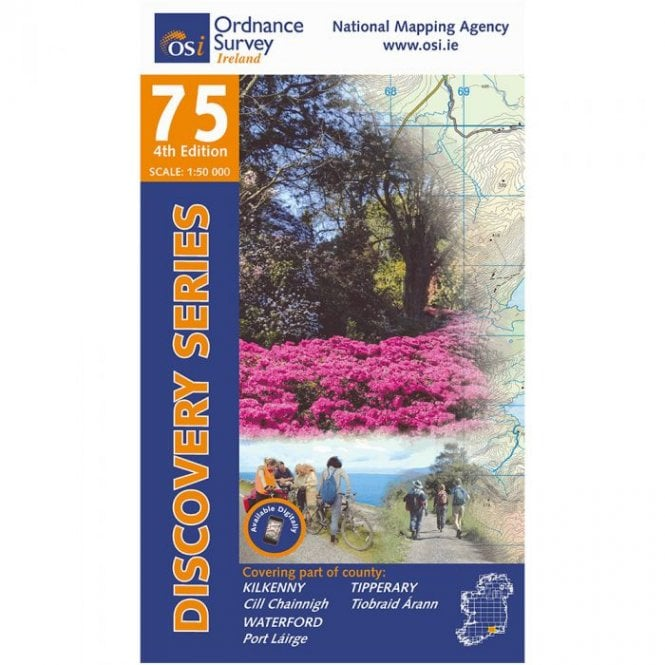 Os Map Of Ireland.Ordnance Survey Ireland Discovery Map 75 Kilkenny Tipperary