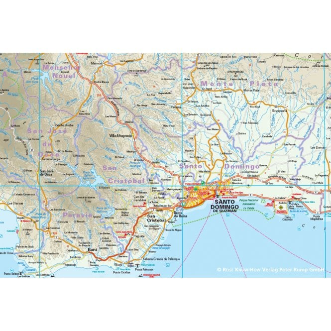 Dominican Republic, Haiti Map - Reise Know-How