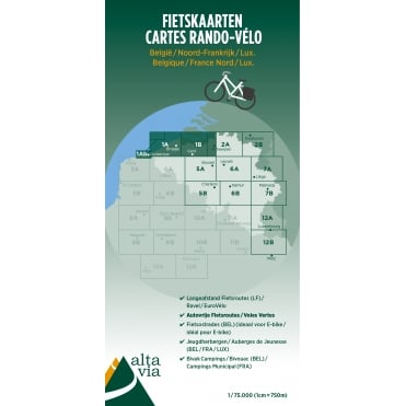 East and West Flanders Cycling Map