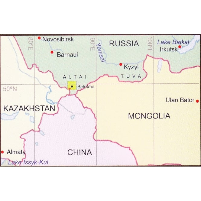 Central Asia: Altai Mountains Map
