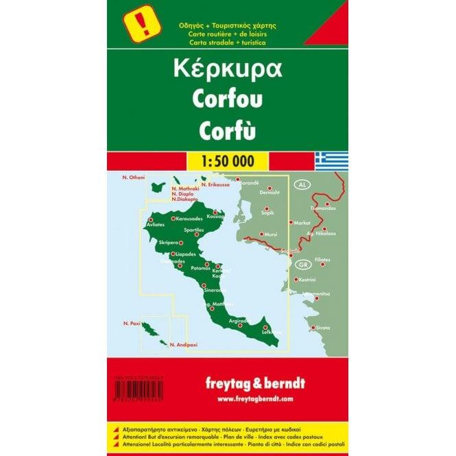 Greece Corfu Road Map Freytag Berndt