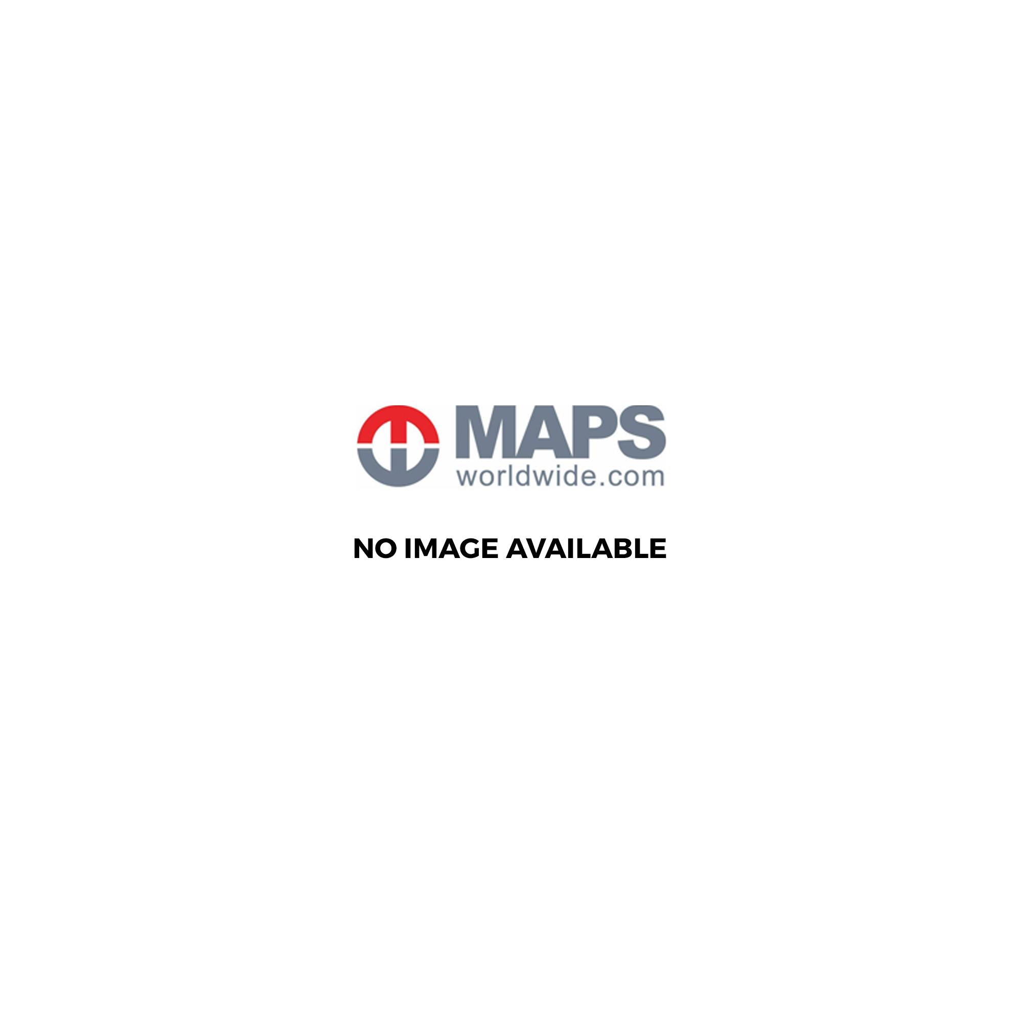 Corfu Greece Road Map Europe from Maps Worldwide UK