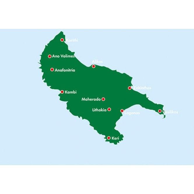 Greece Zakinthos Road Map Freytag Berndt