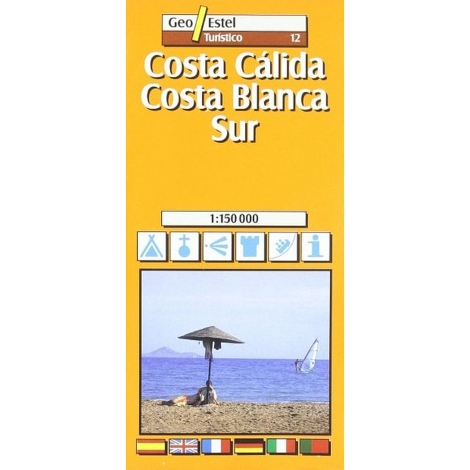 Costa Calida Costa Blanca South Tourist Road Map 12 Published