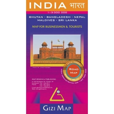 India Political Road Map (GIZI.068R)