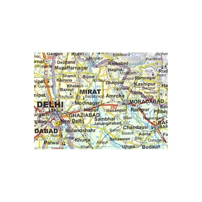 India Political Road Map (GIZI.068R)