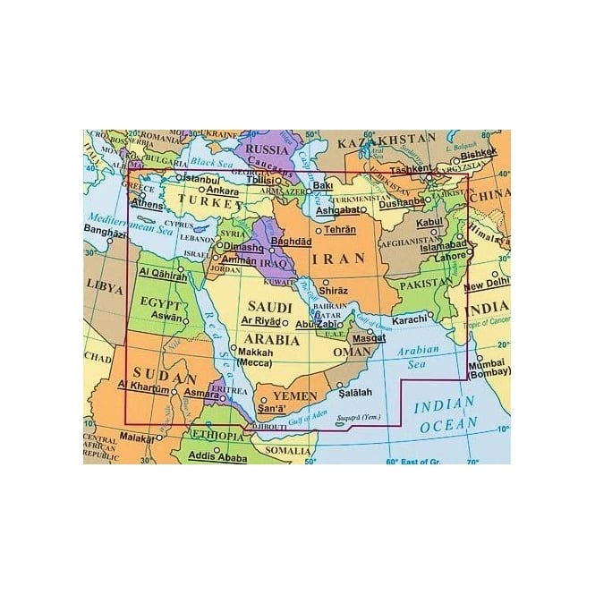 Middle East Political Map - Gizi Maps