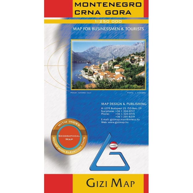 Montenegro & Albania North (Crna Gora) Geographical Map