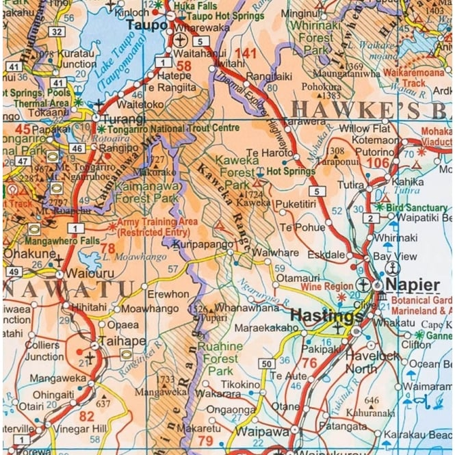 Geographical Map Of New Zealand.New Zealand Geographical Map