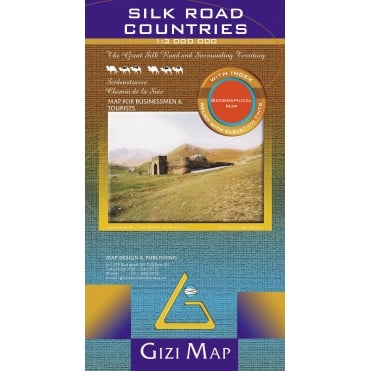 Silk Road Countries Geographical Map
