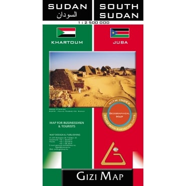 Sudan & South Sudan Geographical Map