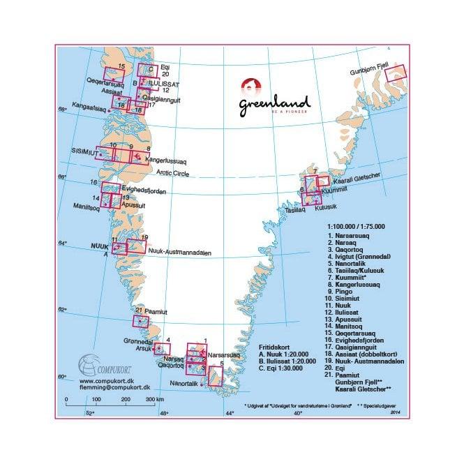 Eqi: North Greenland Hiking Map No. 20 (1:100 000)