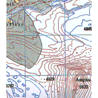 2885 11: Lantan Lirun Nepal/Finn Sheet Map
