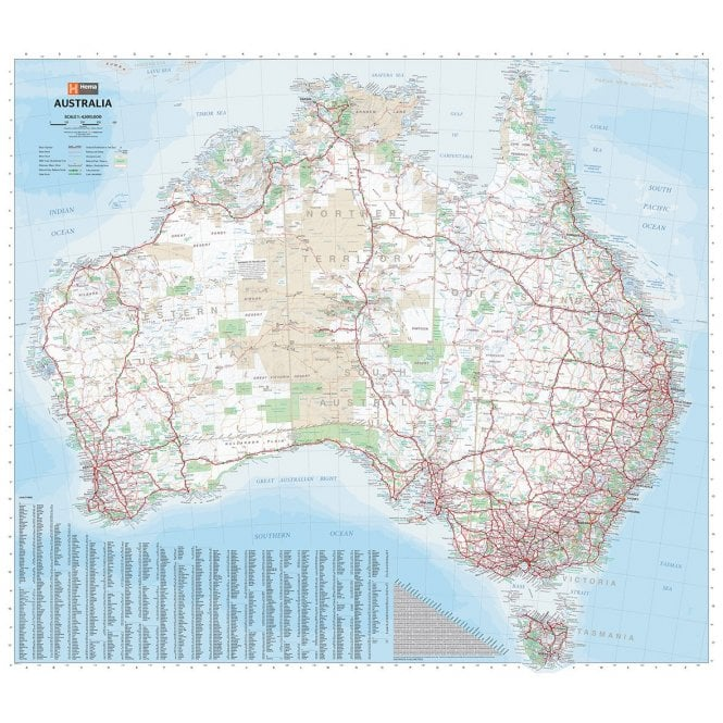 Country Map Of Australia.Australia Country Map Folded
