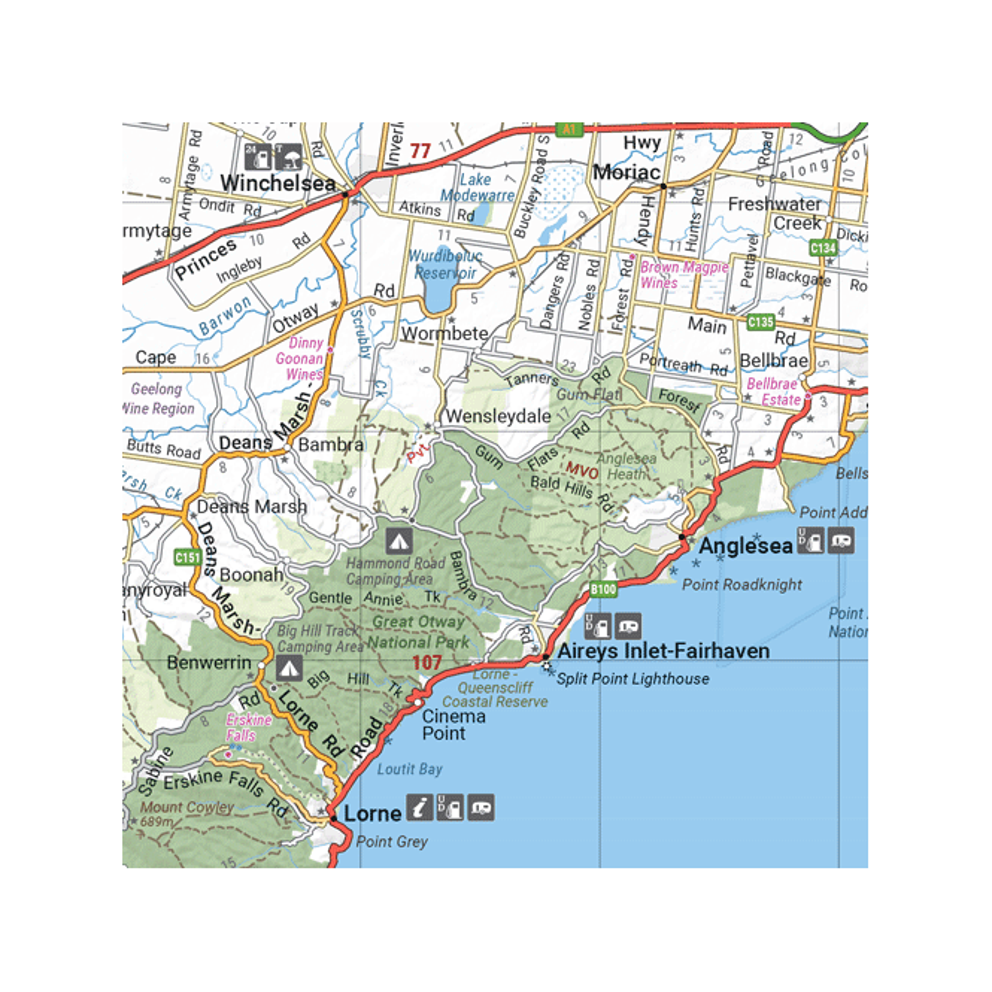 Road Map Of Australia.Australia Easy Read Road 4wd Sprial Bound A3 Atlas