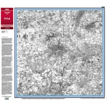 Historic Ordnance Survey 1:50,000 Postcode Centred Map - selection of dates