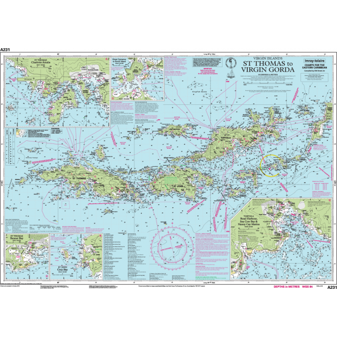 Chart A231: Virgin Islands St Thomas to Virgin Gorda