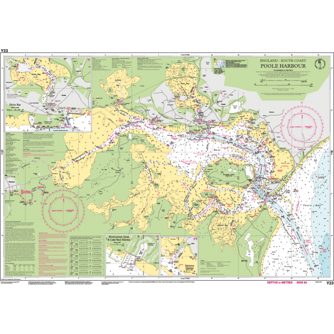 Poole England Map.Chart Y23 Poole Harbour
