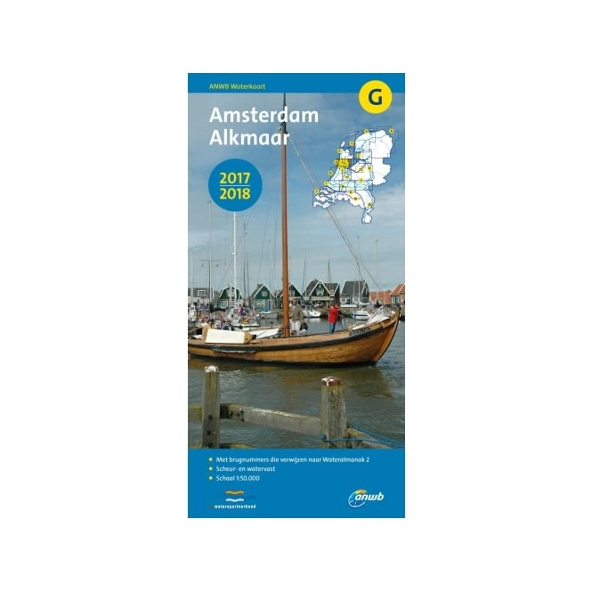 Inland Waterways Map G: Amsterdam-Alkmaar