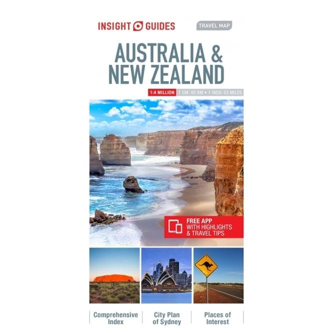 Map Australia And New Zealand.Insight Travel Map Australia New Zealand