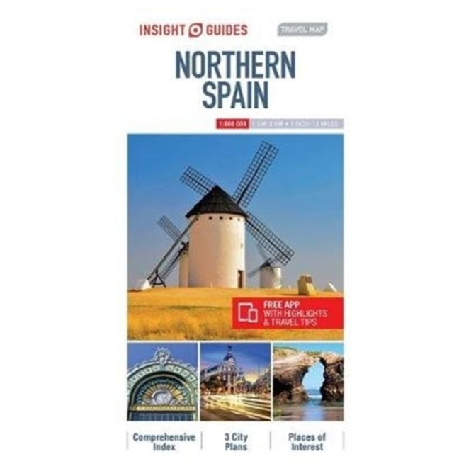 Map Of Northern Spain And Portugal.Insight Travel Map Northern Spain