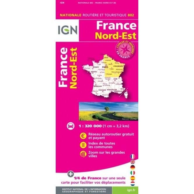 carte ign france gratuit France Regional Road map: IGN 802   North East
