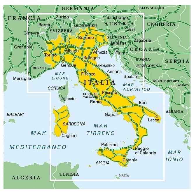 Italy Map - Touring Club Italiano (TCI)