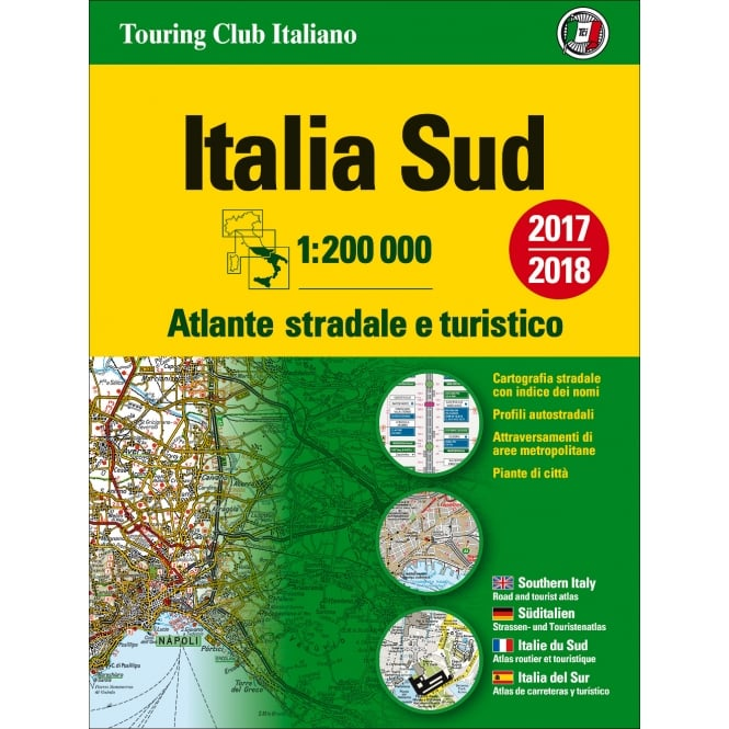 Italy Road Atlas: Southern 2018