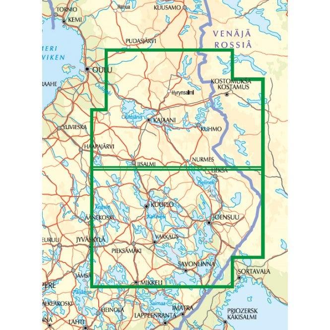 Gt Road Map East Finland 1 250k Published By Karttakeskus