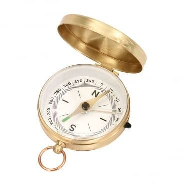 Orbit Brass Pocket Compass (6018)