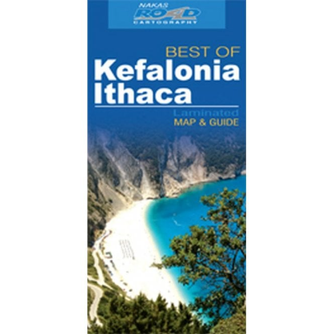 Kefalonia Ithaca Greece Best Of Tourist Map With Information