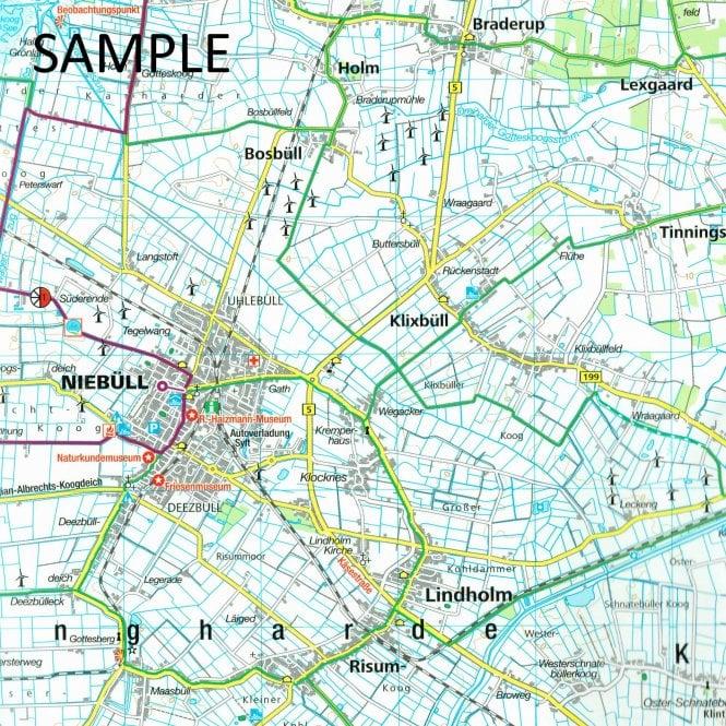 Holsteinische Schweiz Karte.Fehmarn Holstein Switzerland Lubeck Kompass Cycling Map 3316