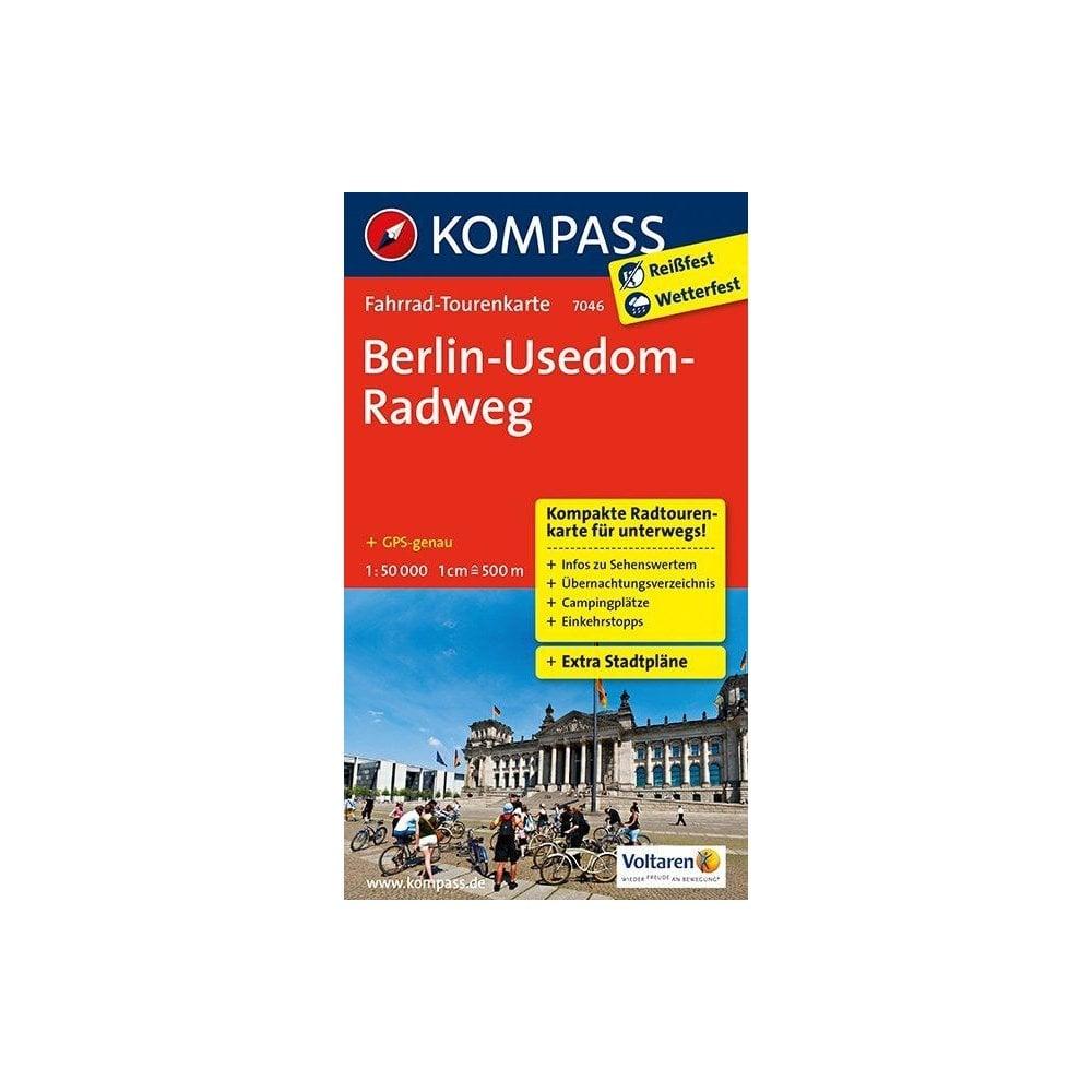 Radweg Berlin Usedom Karte.Berlin Usedom Cycle Route Kompass Cycle Tour Map 7046