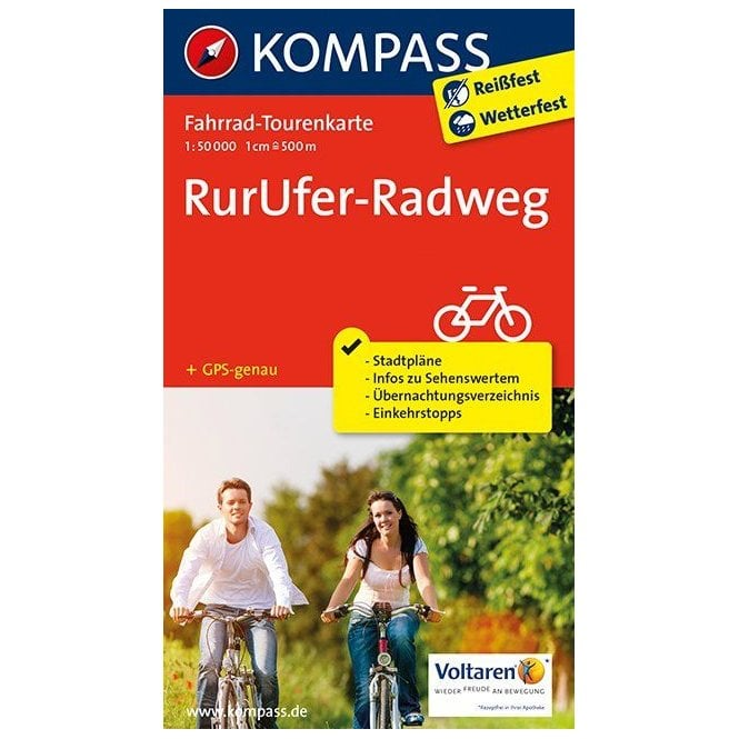 Priwall Karte.Rurufer Cycle Route Kompass Cycle Tour Map