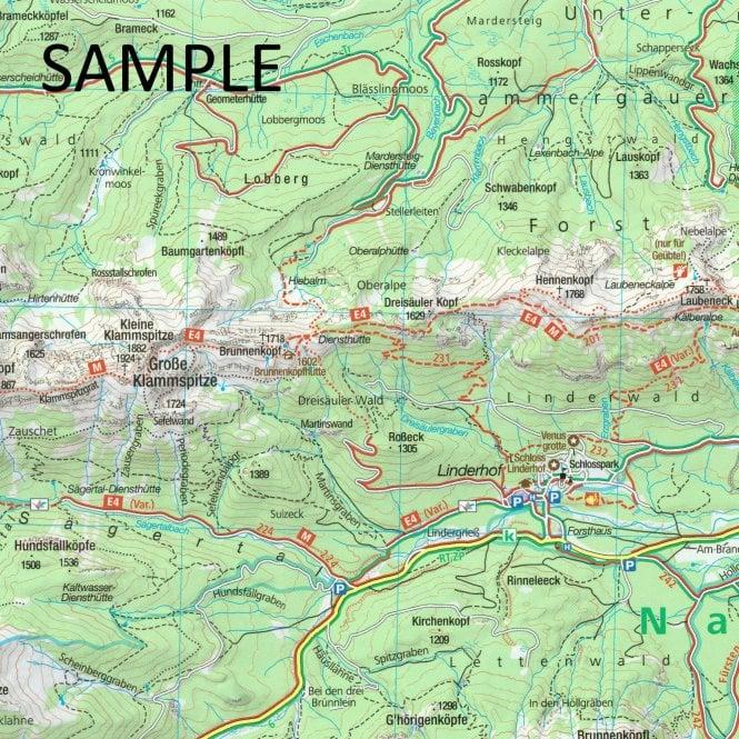 Karte Augsburg.Augsburg Western Woods Nature Park Kompass Hiking Map 162